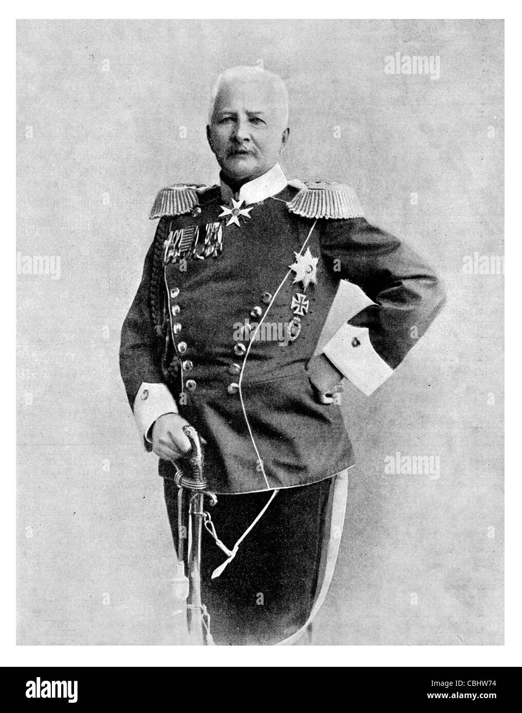Alfred Ludwig Heinrich Karl Graf von Waldersee 1832 1904 German General field marshall Chief Imperial German General - Stock Image