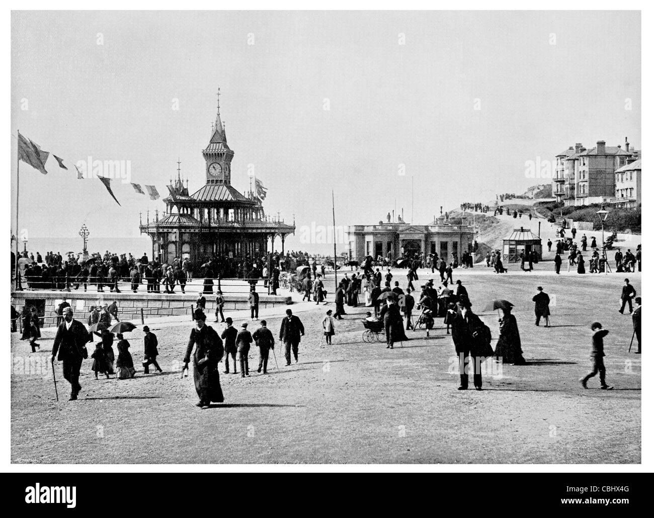 pier Bournemouth George Rennie bandstand Promenade esplanade - Stock Image