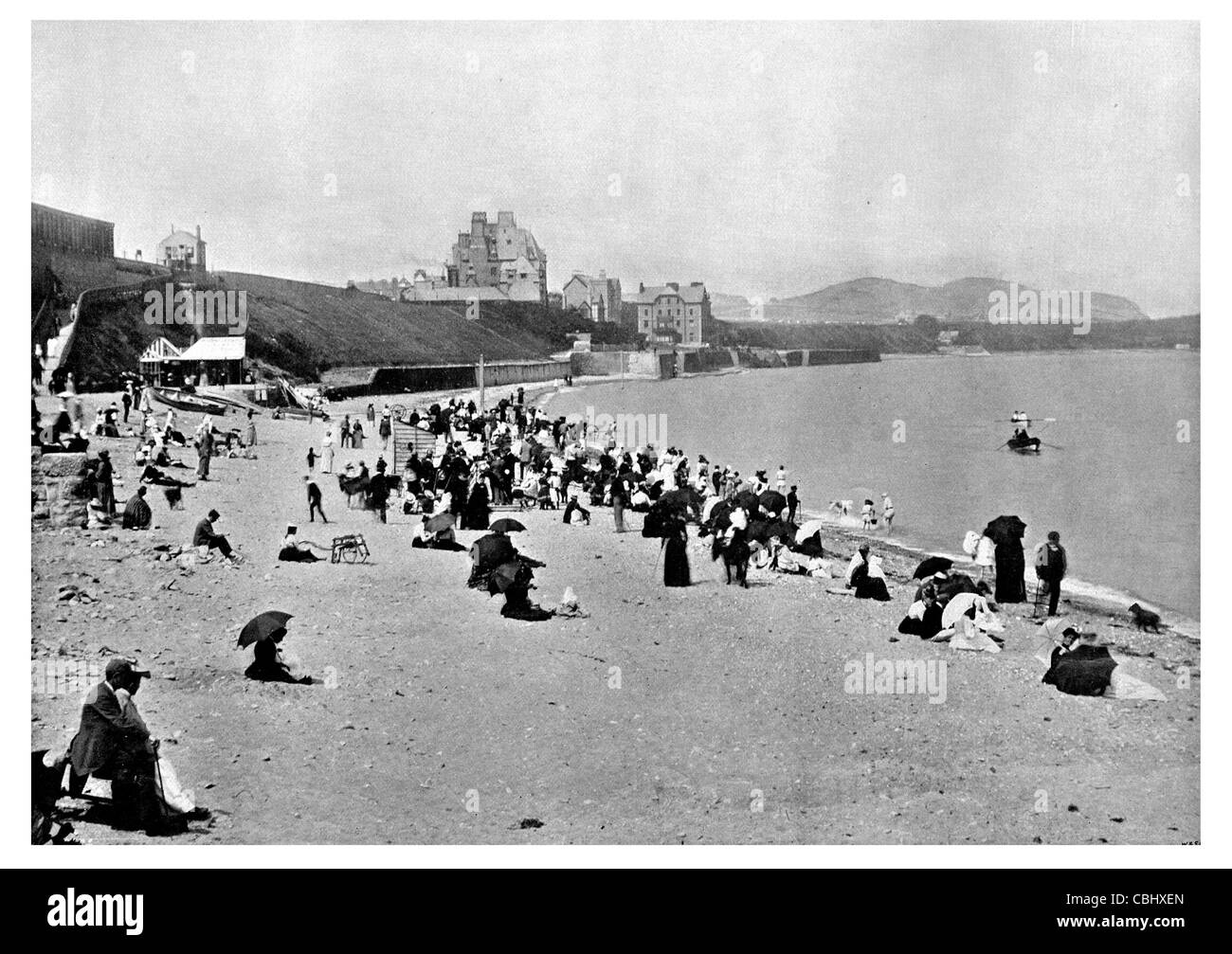 Colwyn Bay town seaside resort Wales beach tourist attraction - Stock Image