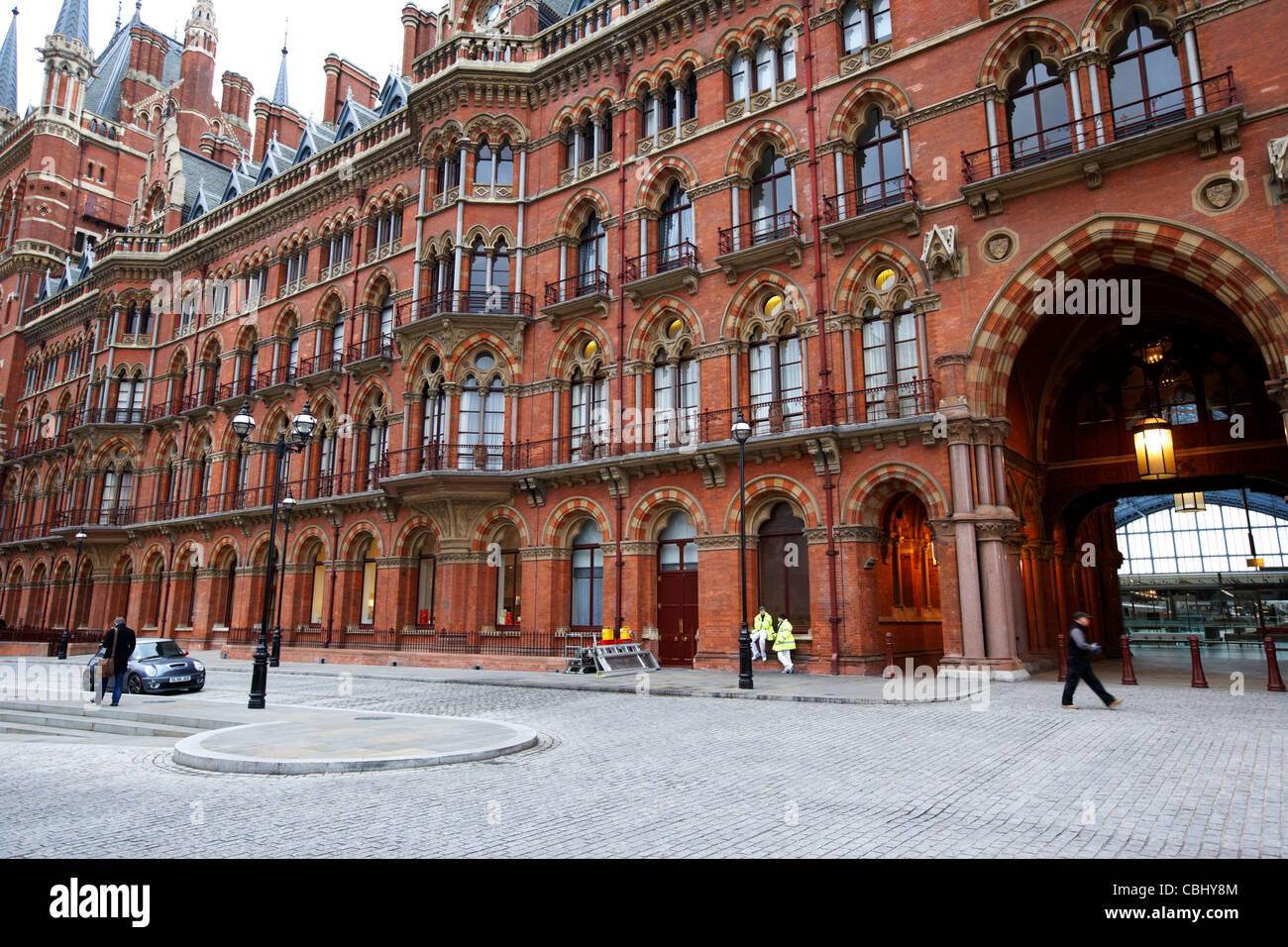 st pancras international rail station london england united kingdom uk - Stock Image