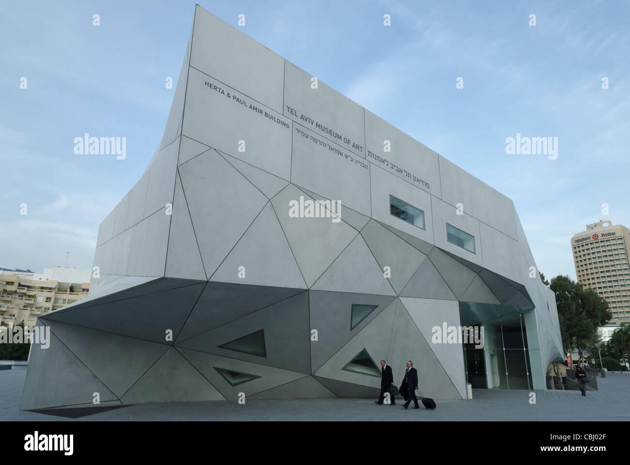 New wing of Tel Aviv Museum of art. Tel Aviv. Israel - Stock Image