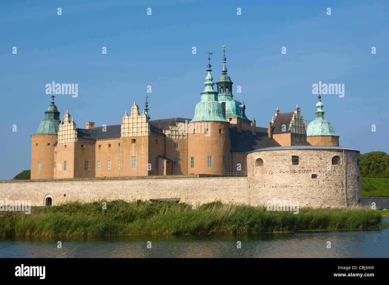 Kalmar slott the fortress in Kalmar city Småland southern Sweden Europe - Stock Image
