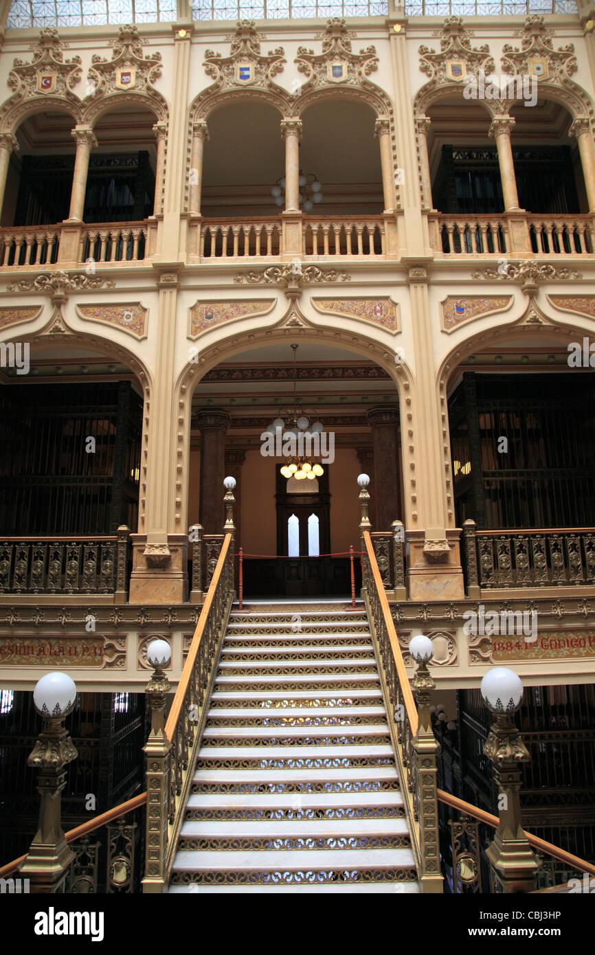 Palacio Postal, Post Office Palace, Historic Center, Mexico City, Mexico Stock Photo
