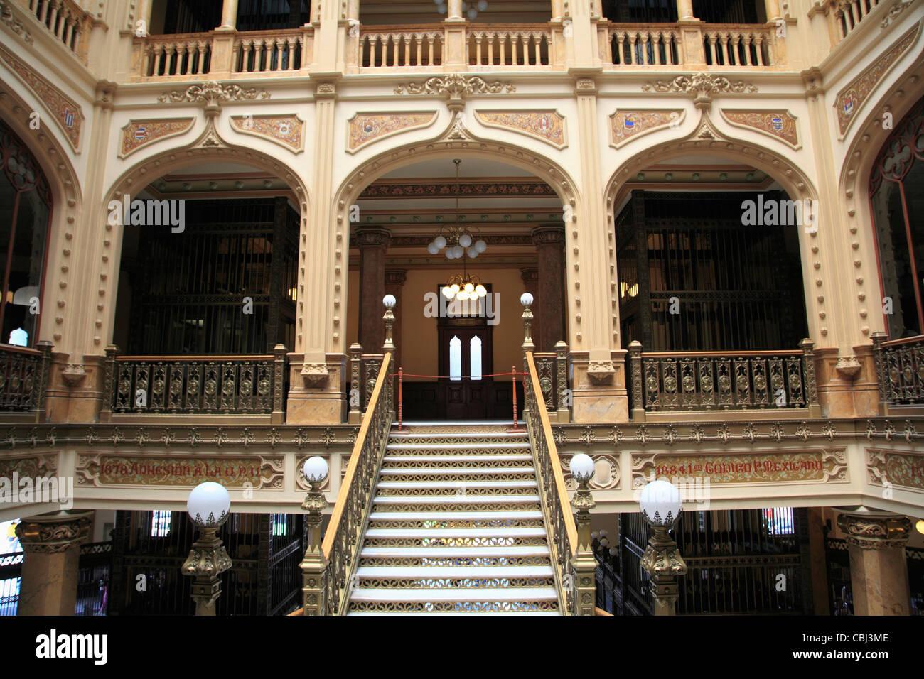 Palacio Postal, Post Office Palace, Historic Center, Mexico City, Mexico - Stock Image