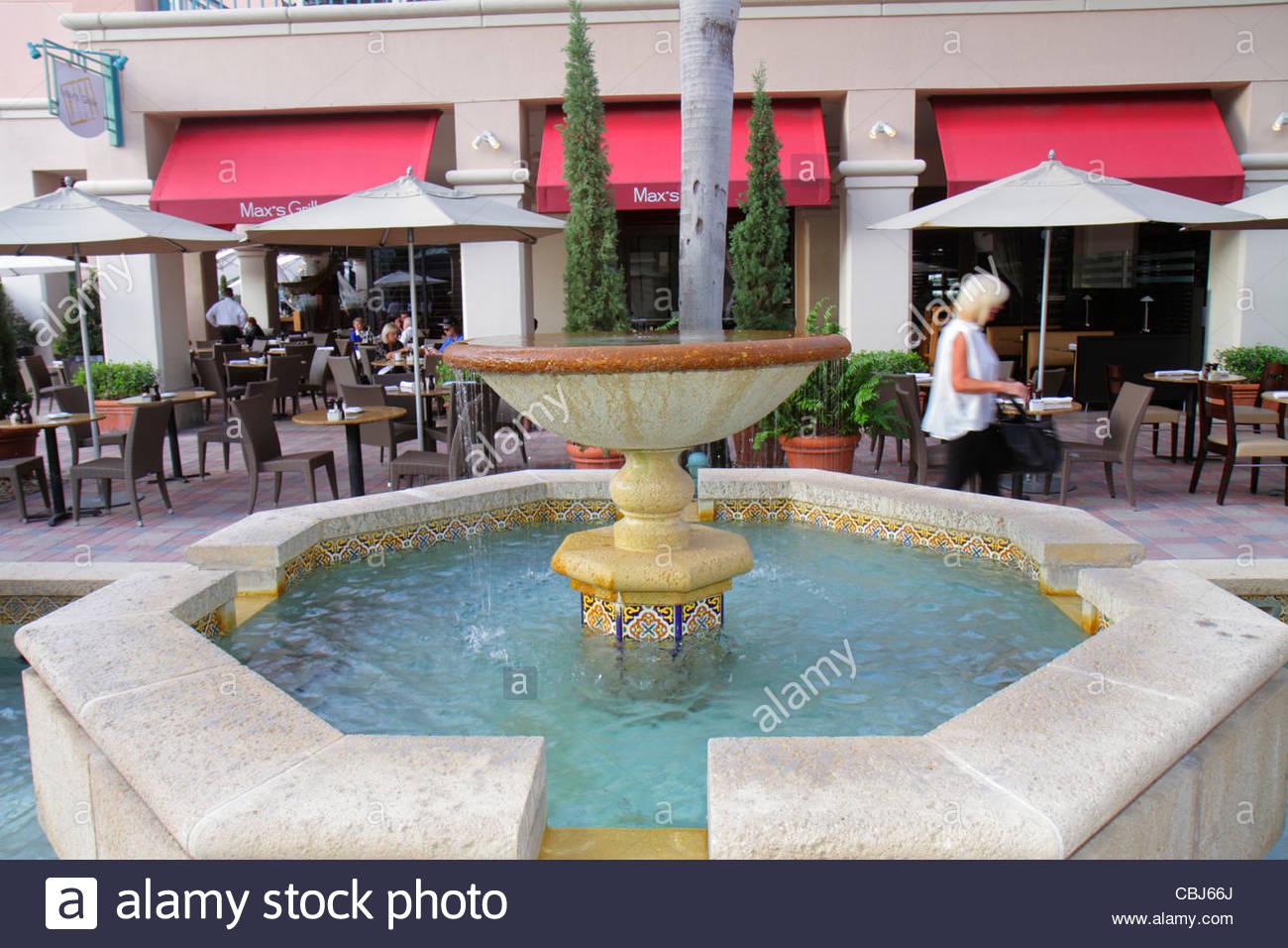 Boca Raton Florida Mizner Park Plaza Real Shopping Dining Alfesco Al
