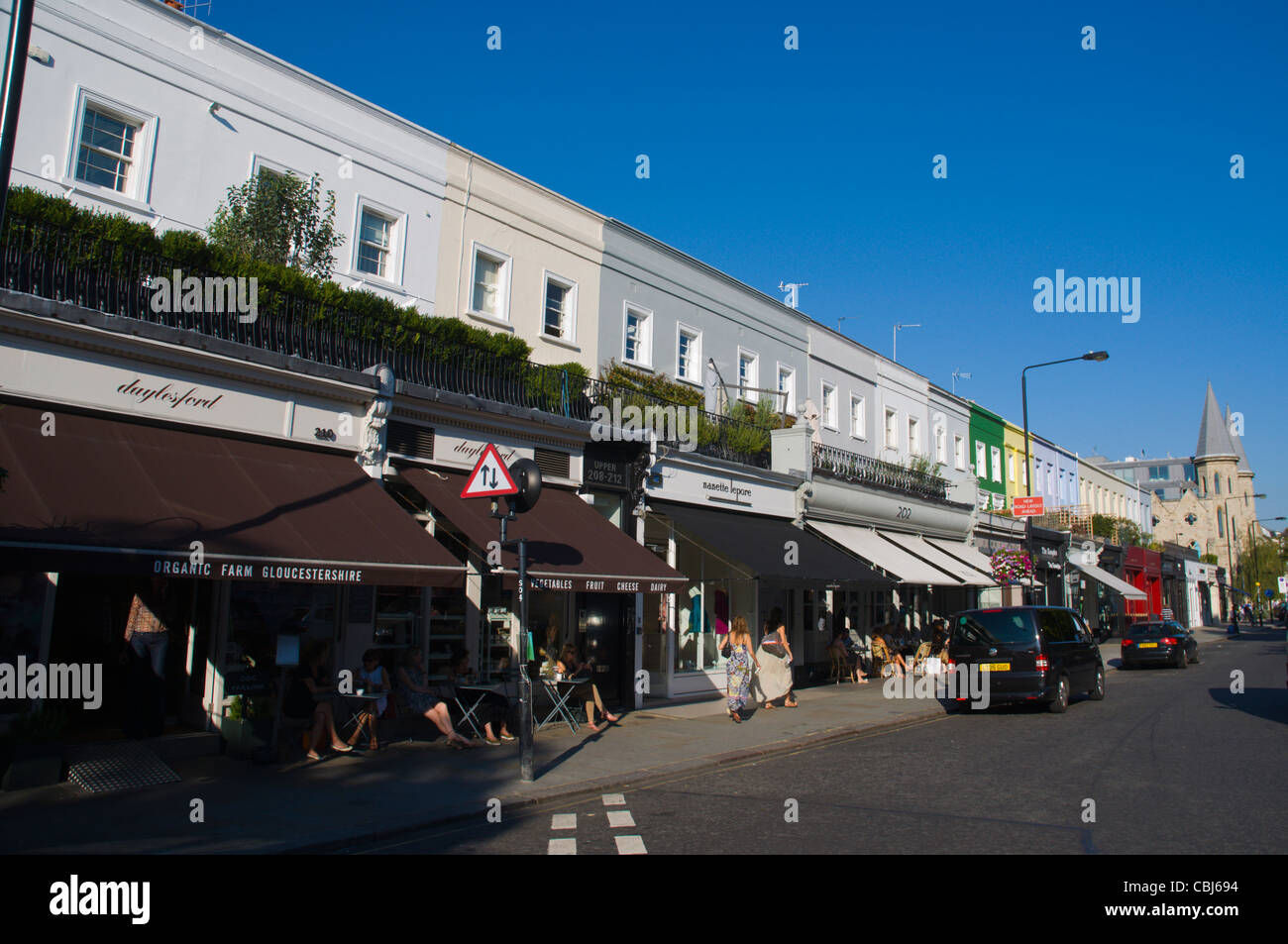 Westbourne Grove street Notting Hill district London England UK Europe Stock Photo
