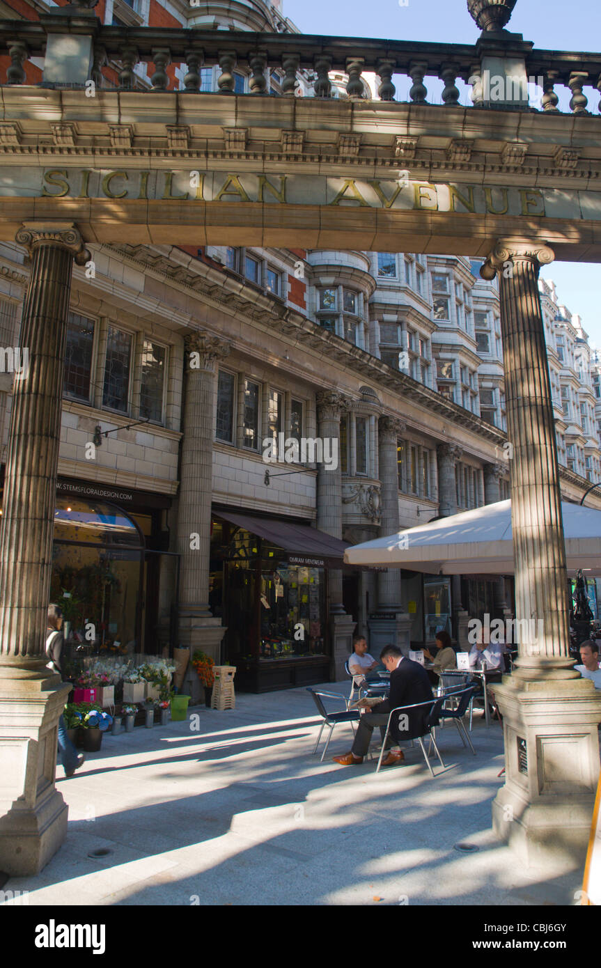 Sicilian Avenue (1910) by R J Worley in Holborn central London England UK Europe - Stock Image