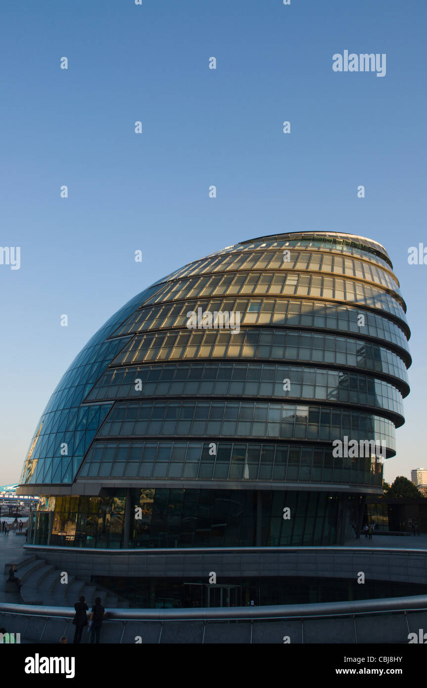 City Hall by Norman Foster in Southwark borough central London England UK Europe - Stock Image