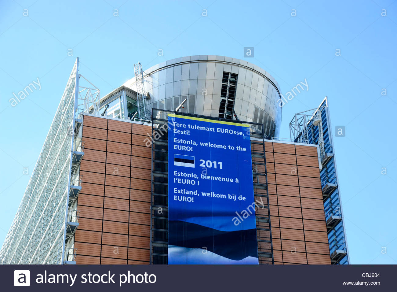 Berlaymont building, office building of the European Commission, European district, Brussels, Belgium, Europe - Stock Image
