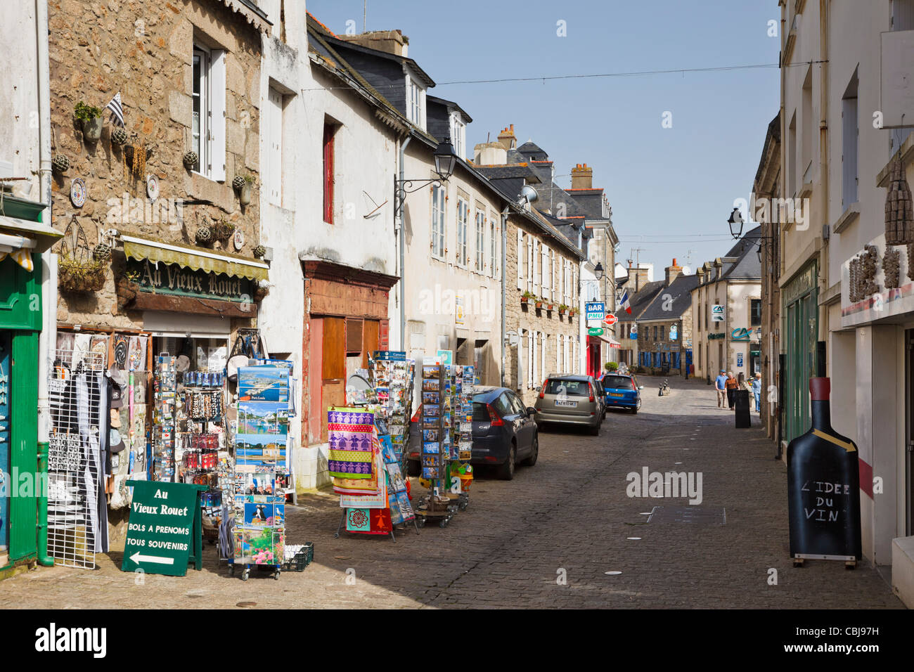 Street in Port Louis, Morbihan, Brittany, France Stock Photo
