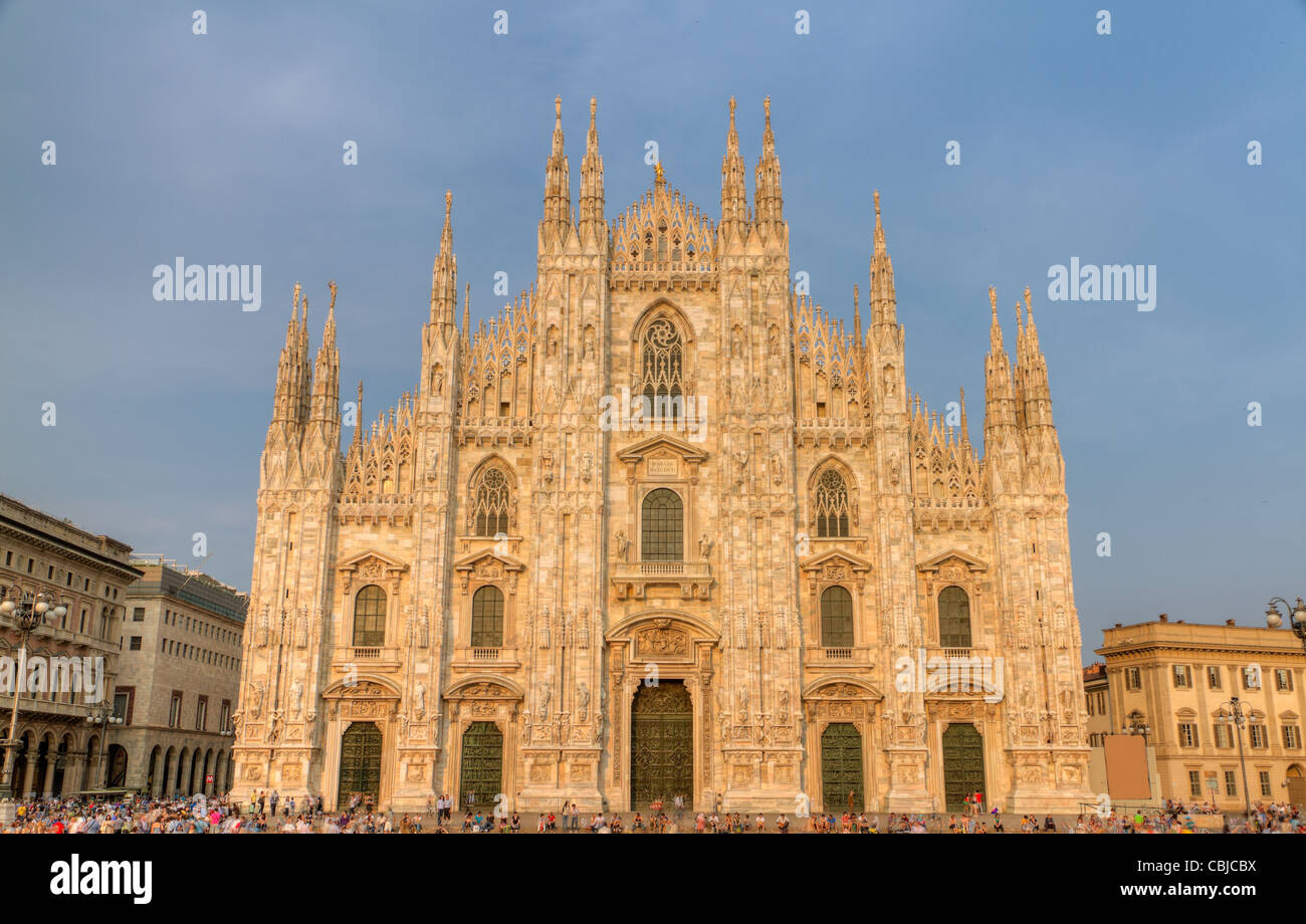 famous cathedral aka duomo of Milan, Italy - Stock Image
