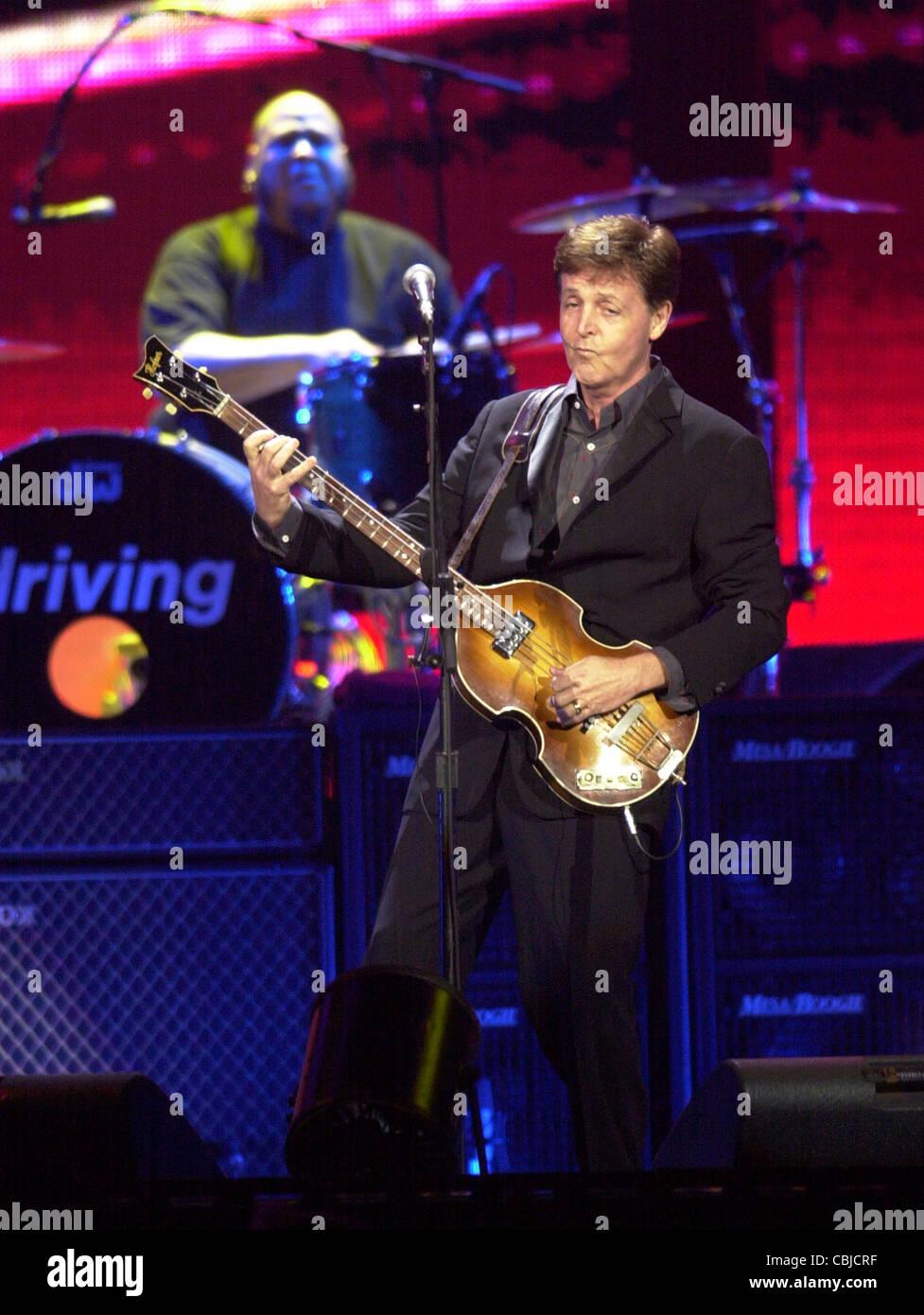 Sir Paul McCartney Beatles  rock concert - Stock Image