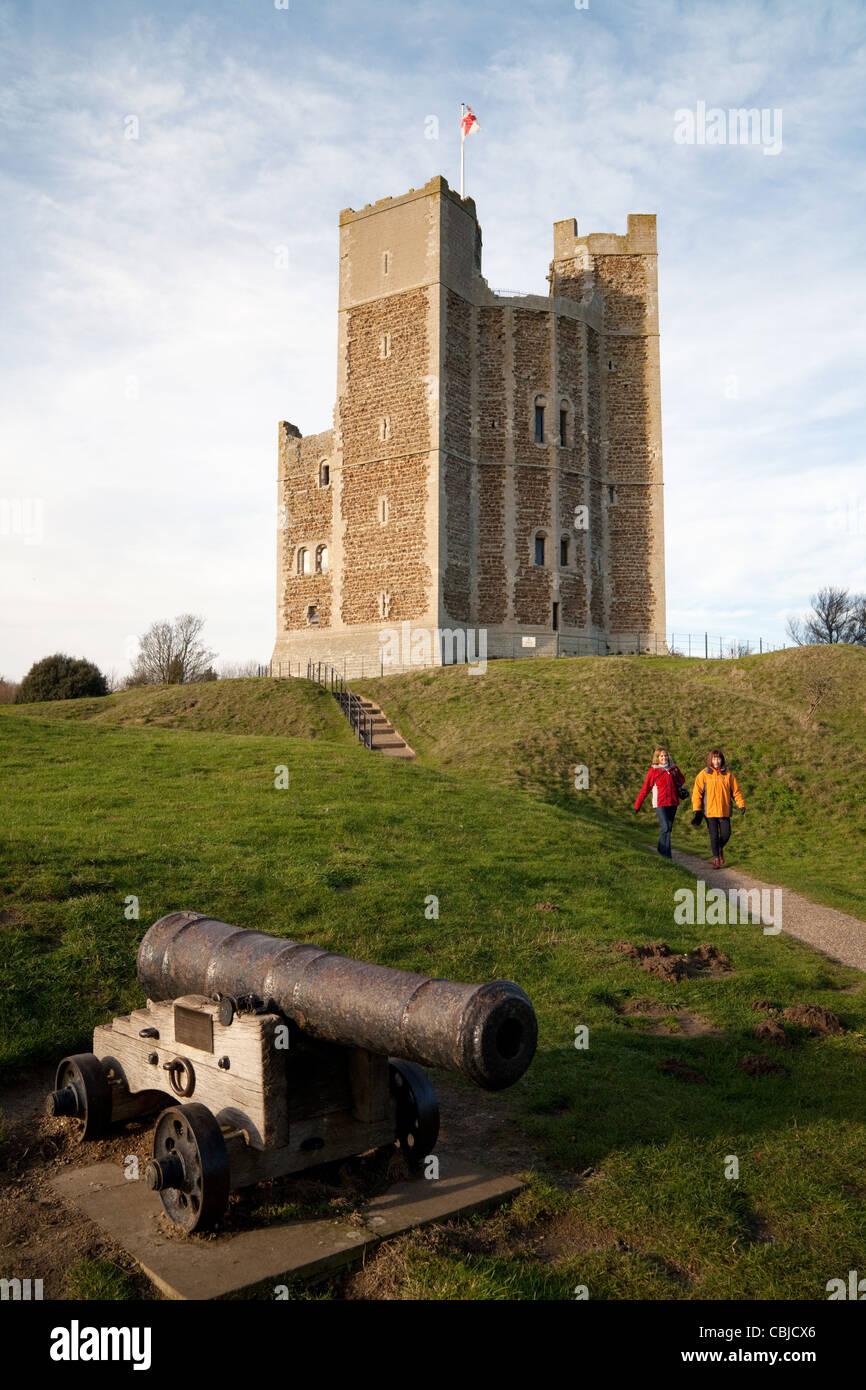 Orford castle, Orford Village Orford Suffolk UK - Stock Image
