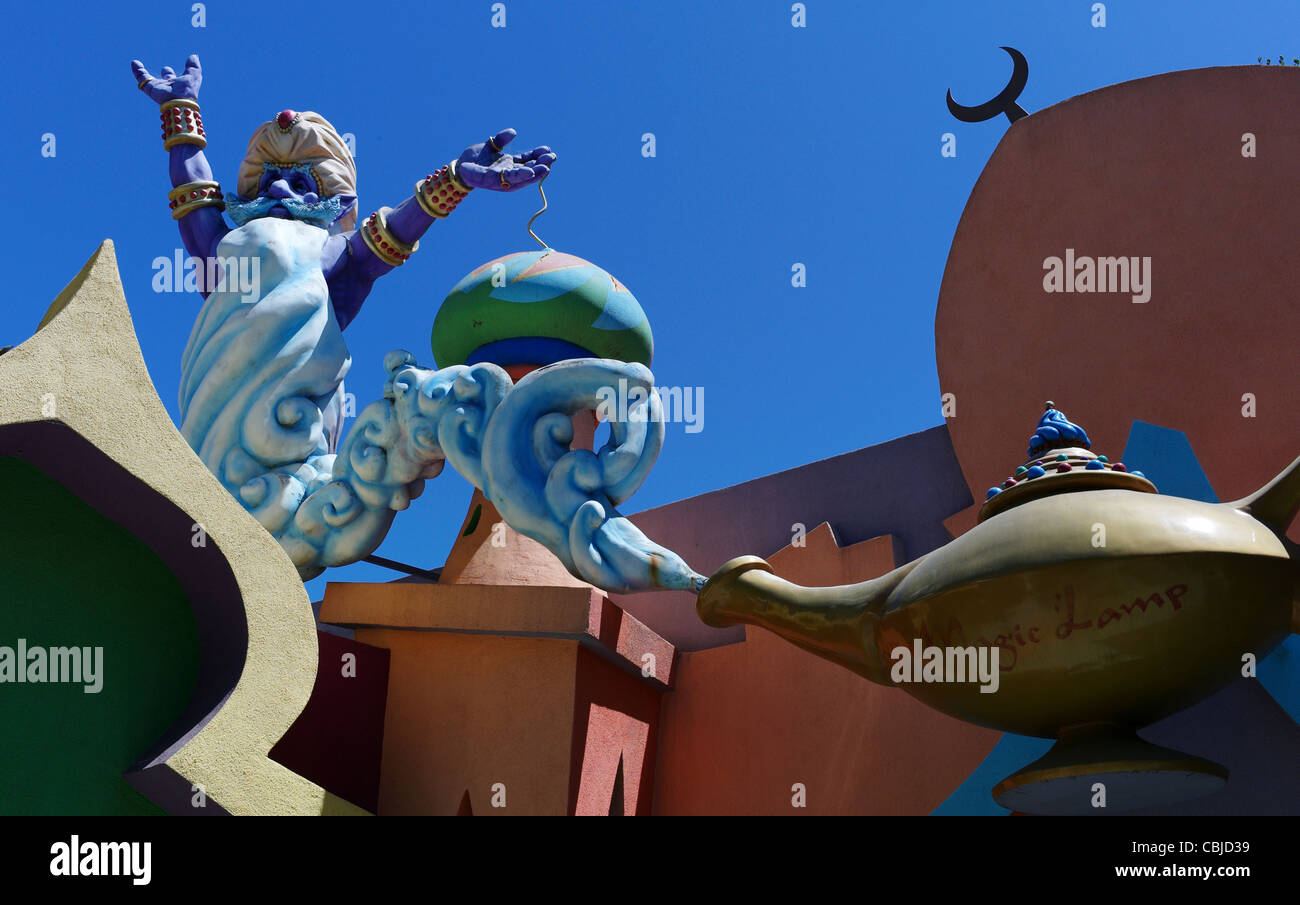 Children's amusement park Fairyland Oakland Aaddin's Lamp GENIE - Stock Image