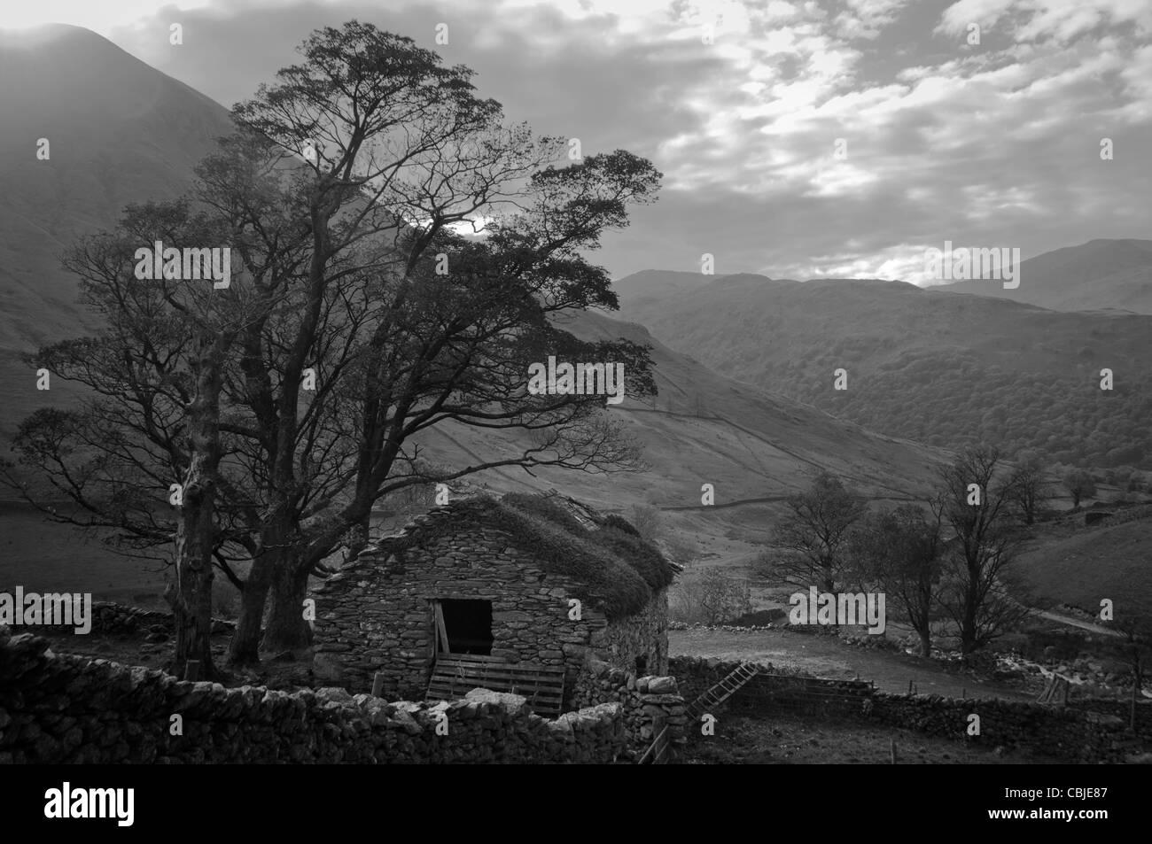 Hartsop Barn, Lake District - Stock Image