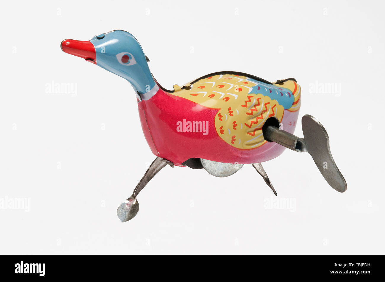 tin plate clockwork duck - Stock Image