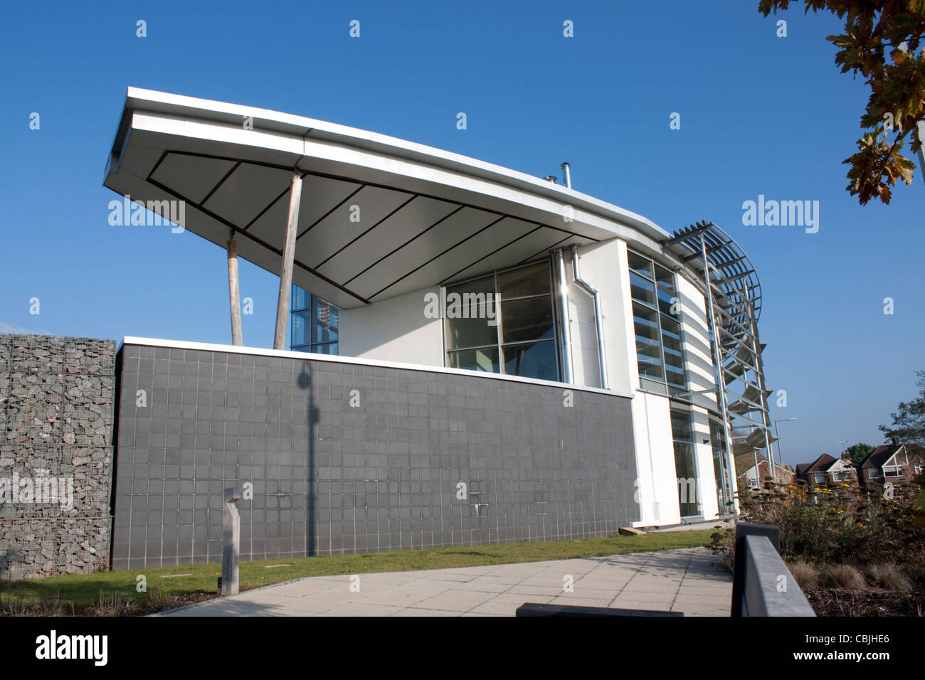 Wolseley Sustainability Building Center (SBC) Leamington Spa Warks UK - Stock Image