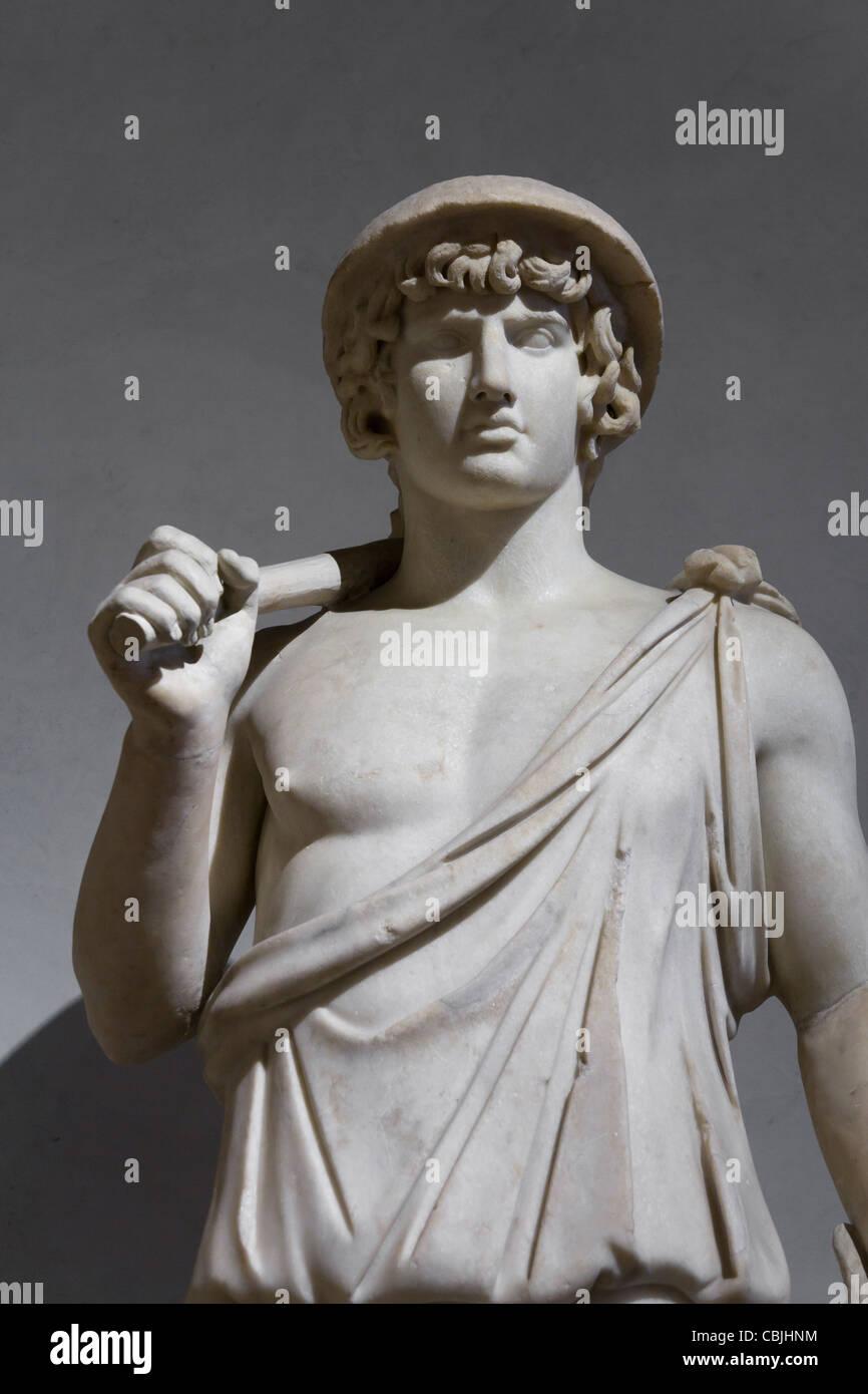Antinous as Aristaeus, Louvre Museum, Paris, France - Stock Image
