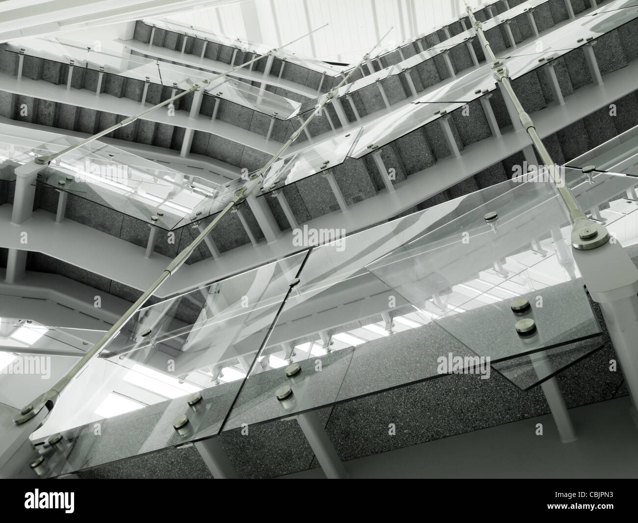 Interior of the Lindsey-Flanigan Courthouse in Downtown Denver. - Stock Image