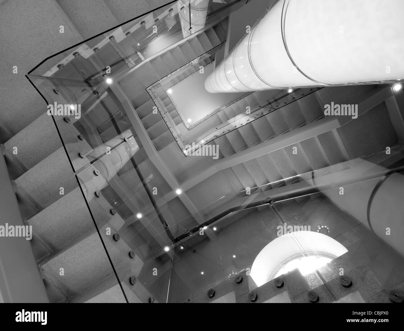 Contemporary staircase at the theater. - Stock Image