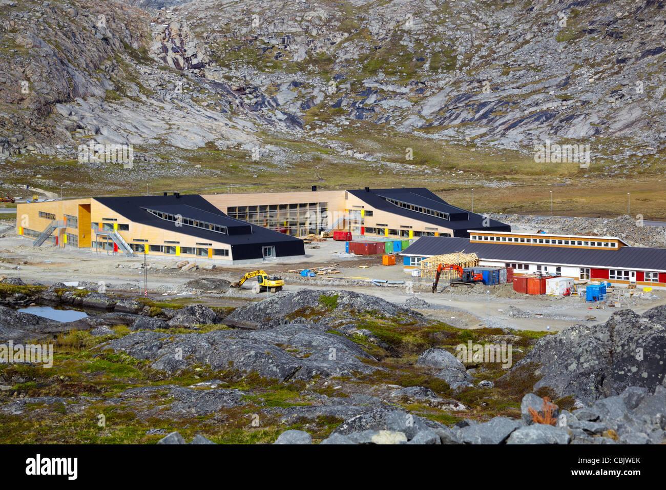 Modern kindergarten, Qinngorput district, Nuuk, Greenland - Stock Image