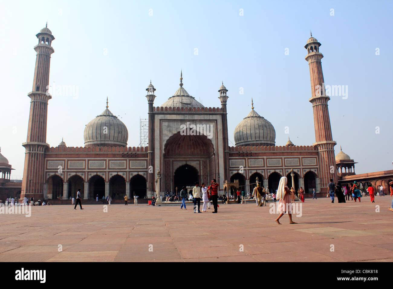 The juma masjid, Old Delhi, India - Stock Image