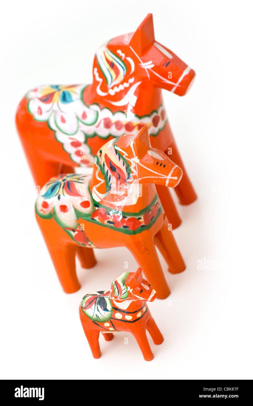 Swedish dala horse - Stock Image