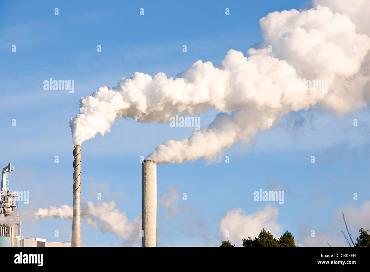 Chimney pollution - Stock Image