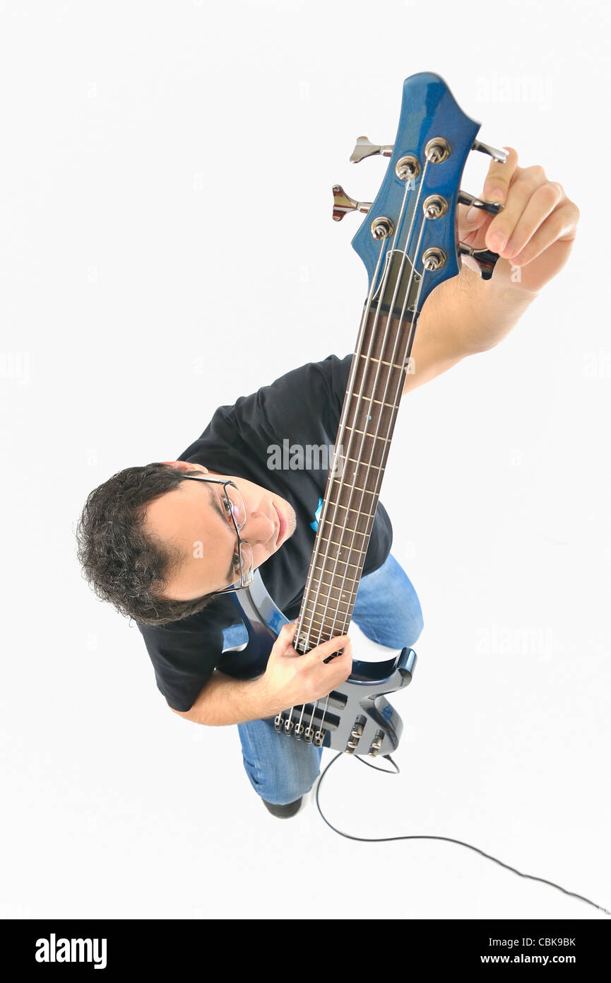 young tune guitar - Stock Image
