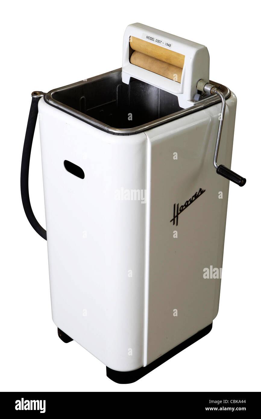 Retro Washing Machine Stock Photos Hoover Wiring Diagram 1948 Vintage Model 0307 Against White Background Image