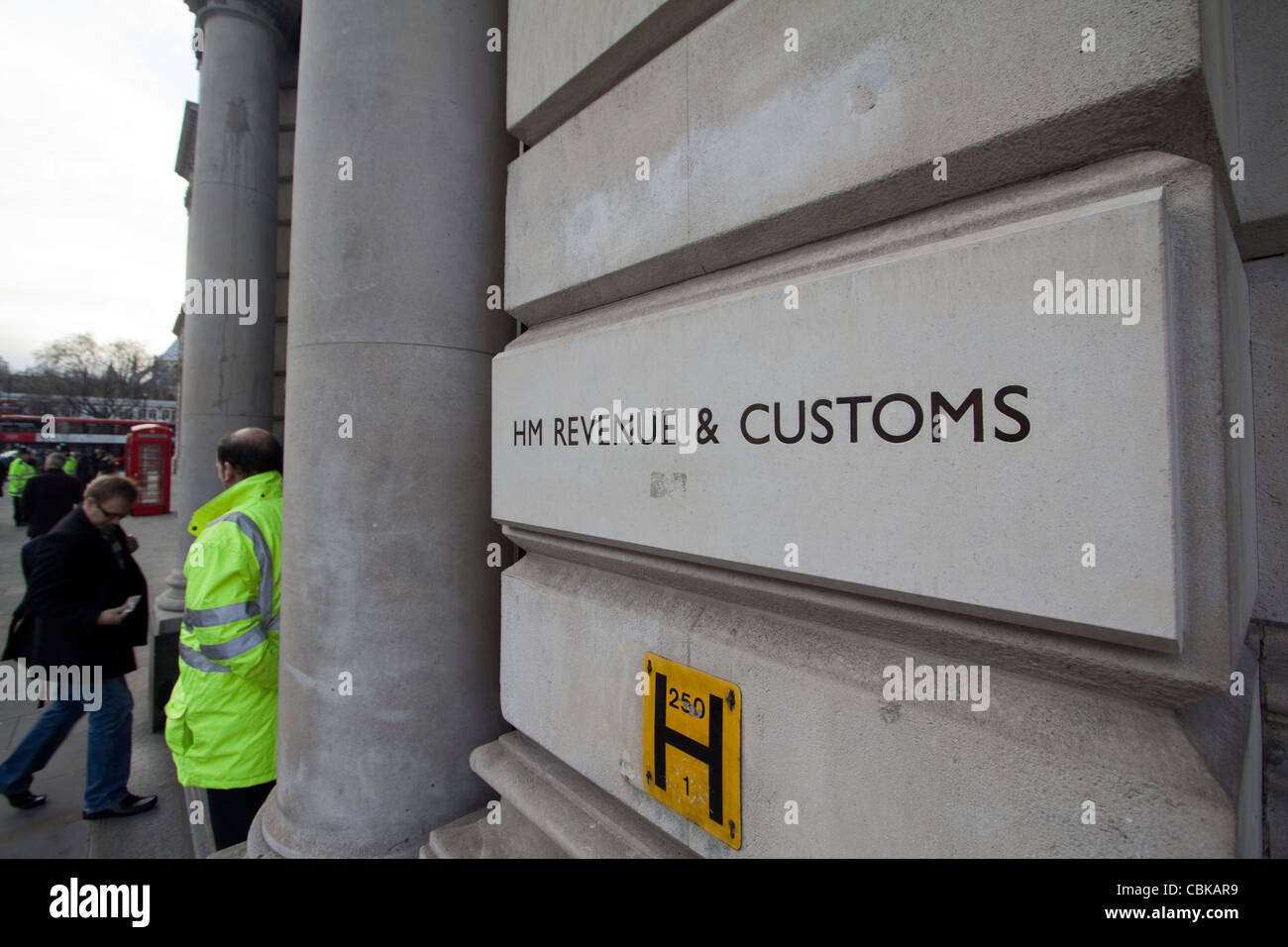 H M Revenue and customs, Her Majesty's Revenue and Customs offices Whitehall, London - Stock Image