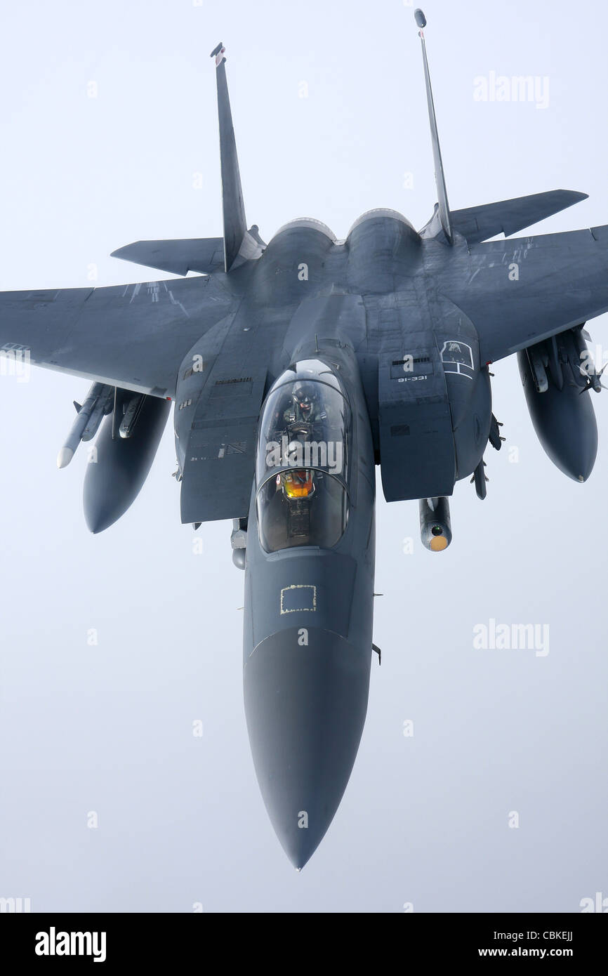 McDonnell Douglas F-15E Strike Eagle of the US Air Force. - Stock Image
