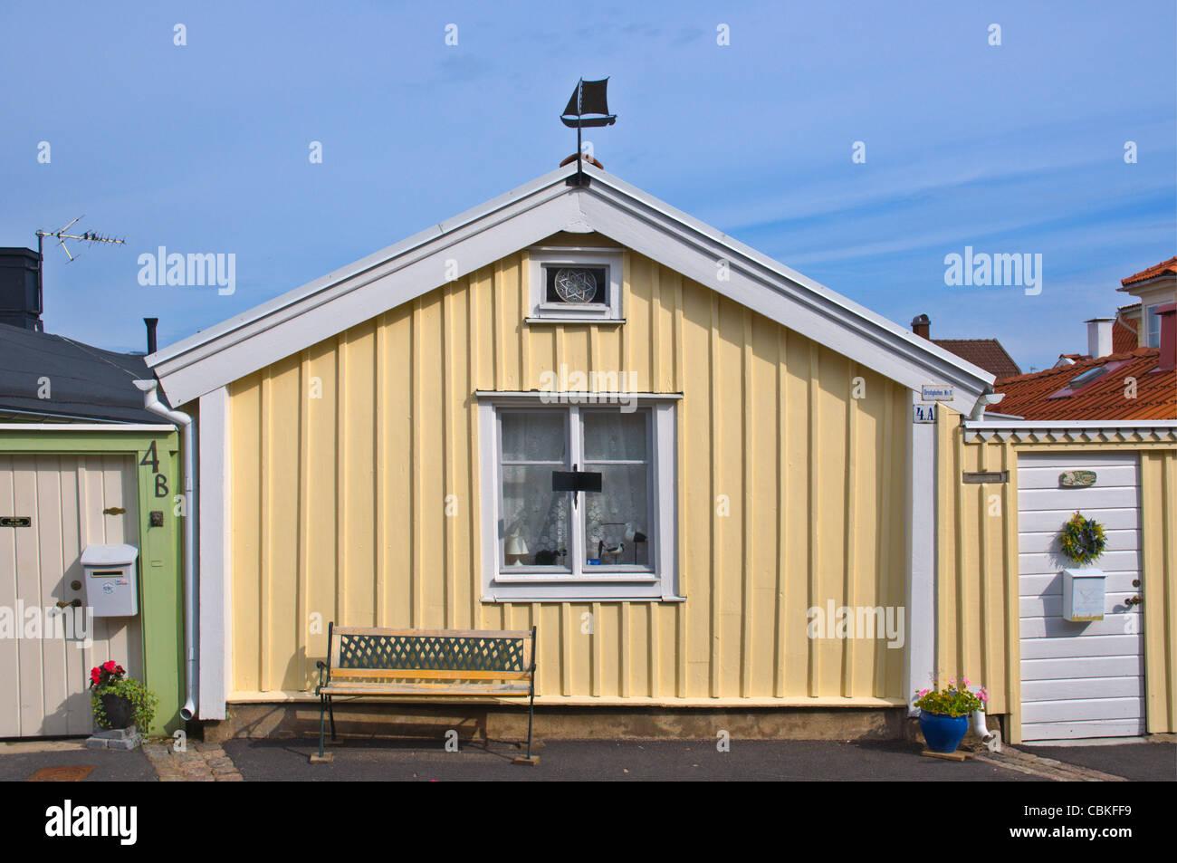 Björkholmen the oldest part of Karlskrona in Blekinge county southern Sweden Europe - Stock Image