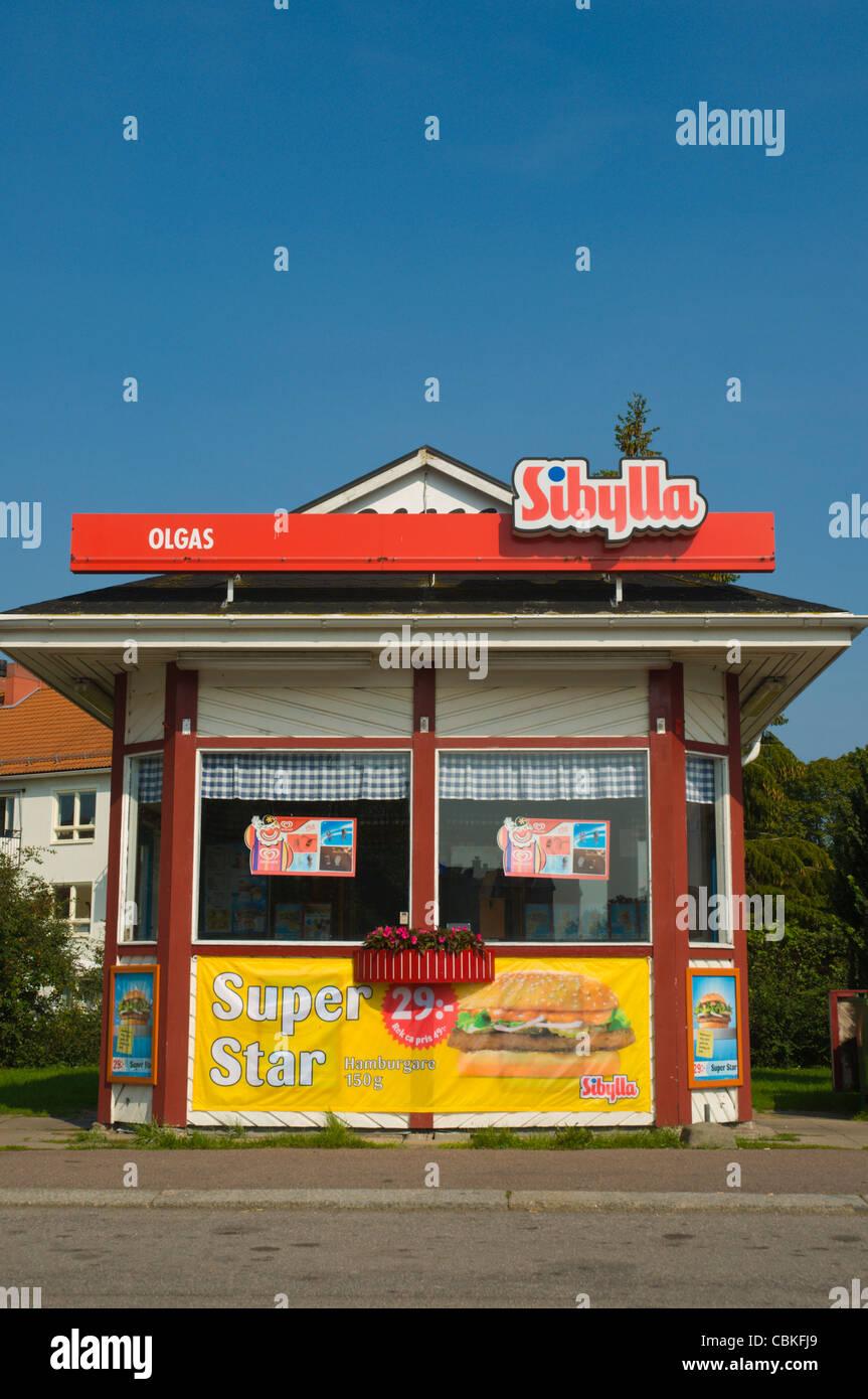Sibylla fast food stand Kalmar city Småland southern Sweden Europe - Stock Image
