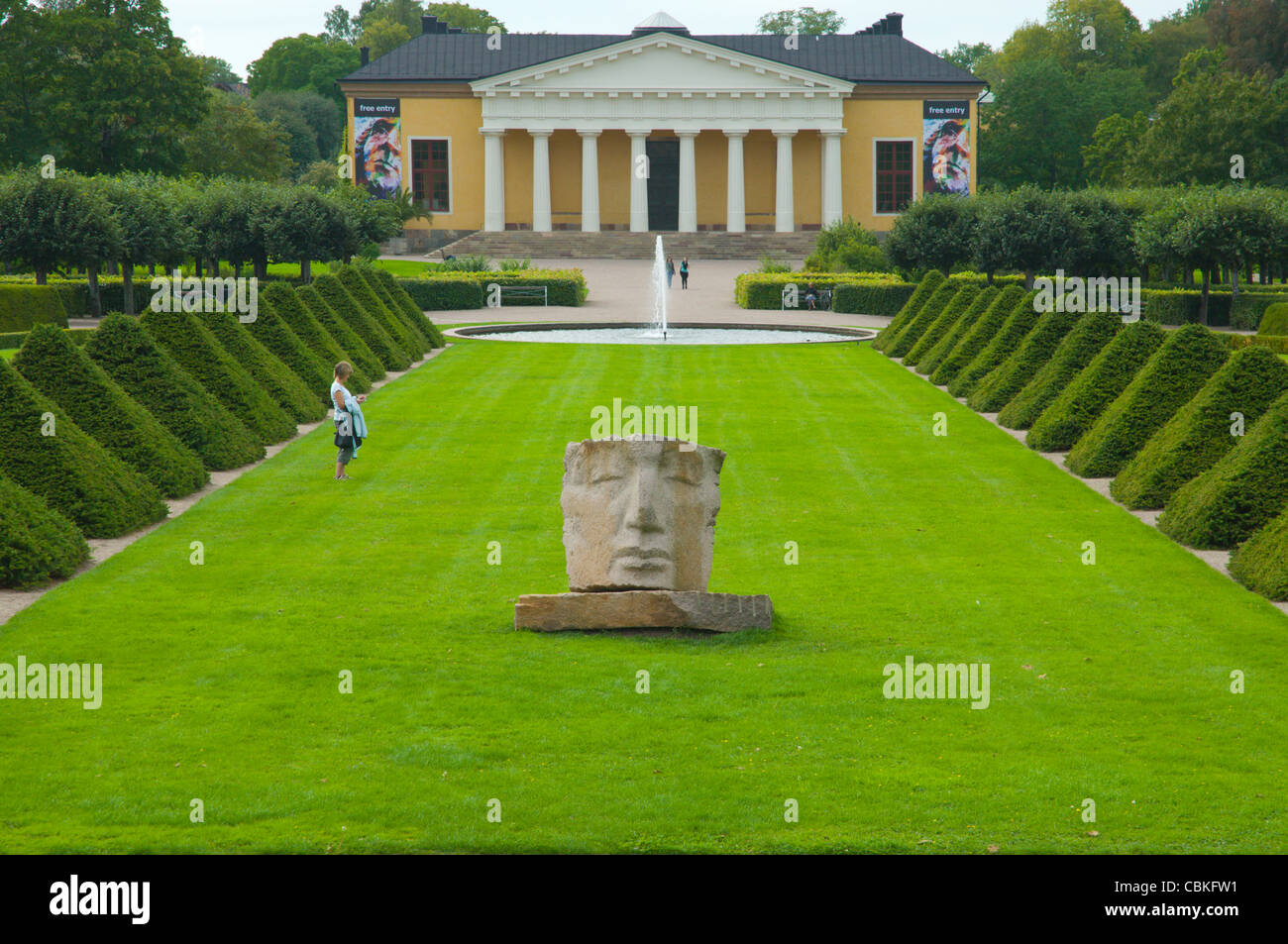 Botanical Gardens in Uppsala city Svealand province Sweden Europe Stock Photo