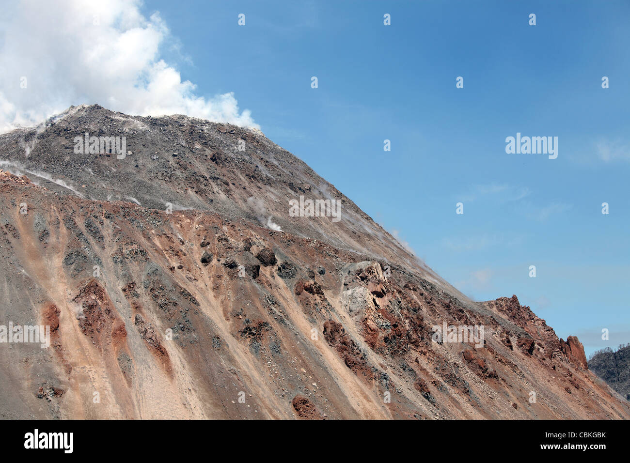 December 6, 2009 - Lava Dome sitting in summit crater of Chaiten volcano, Chile. - Stock Image