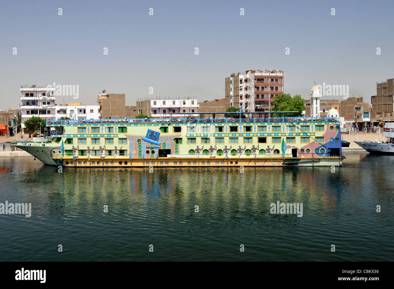 Blu Club is one of the Nile cruise ships - Stock Image
