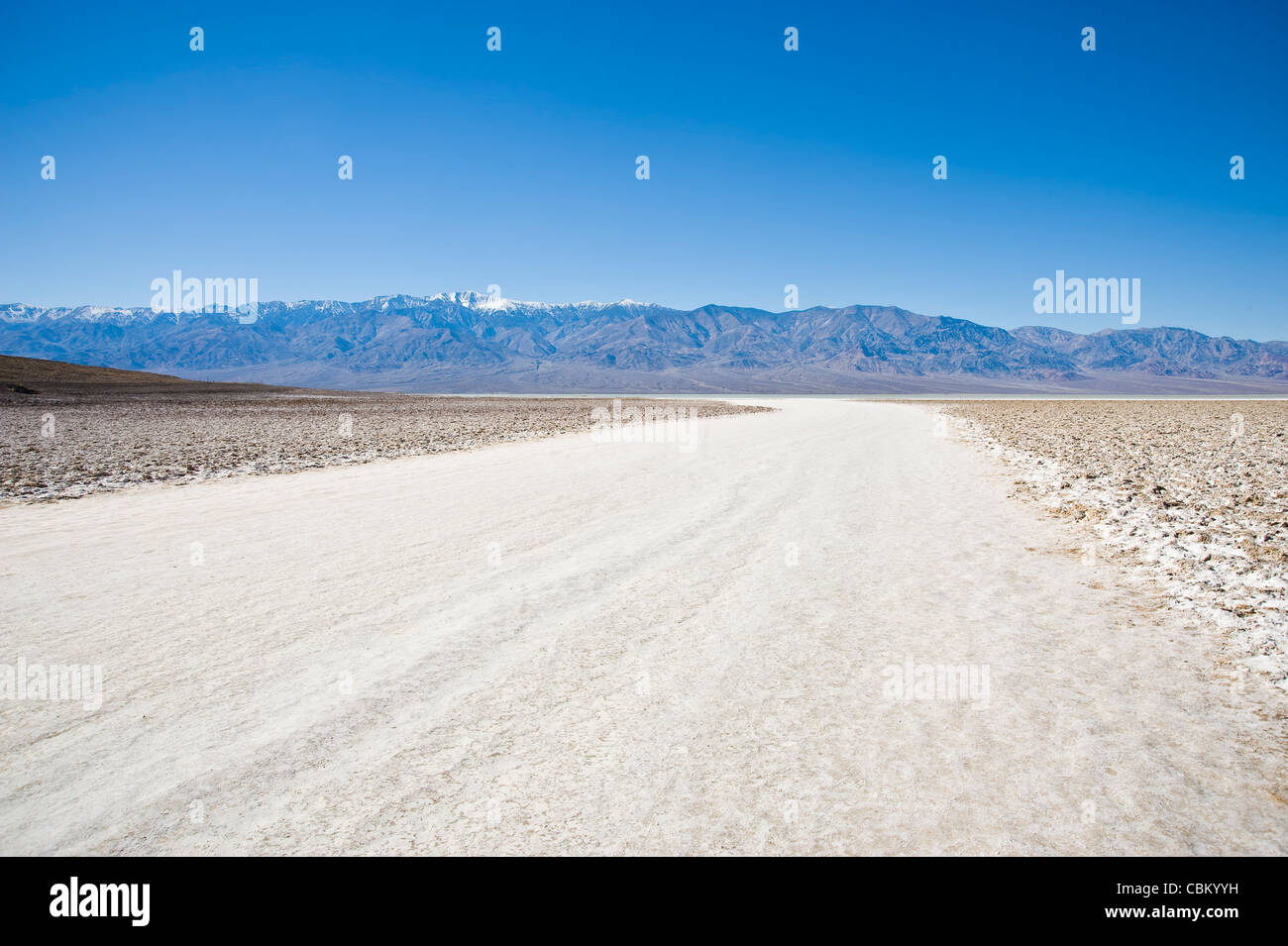 Badwater Basin, Death Valley National Park, USA - Stock Image