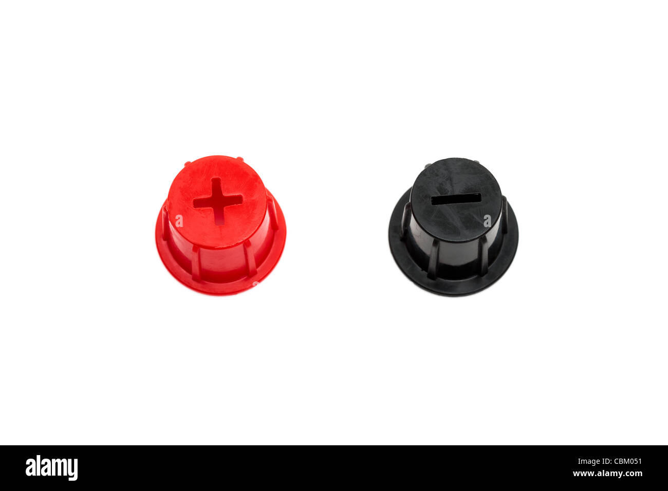 Battery Red positive and Black negative Stock Photo: 41621133 - Alamy