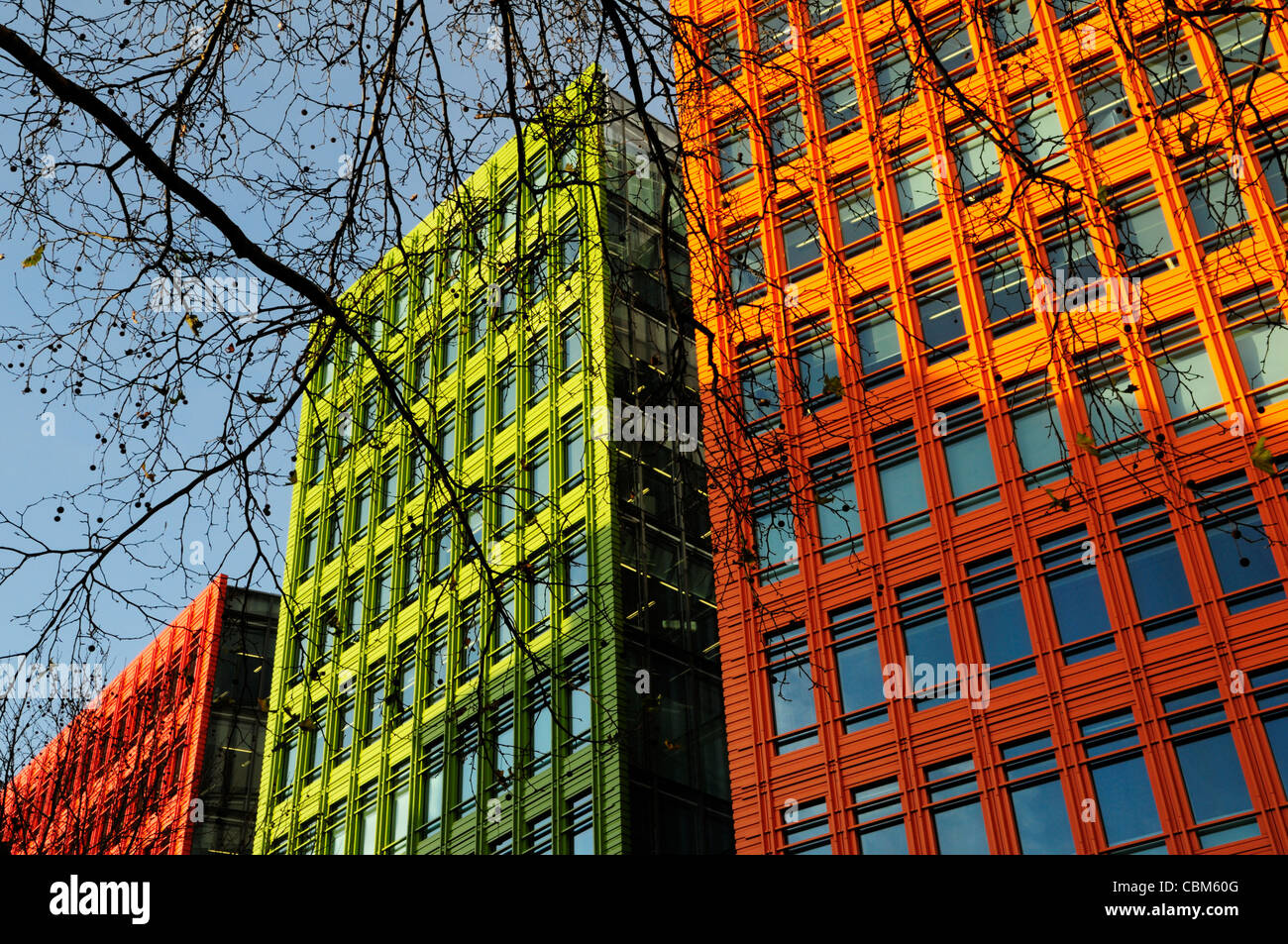 Abstract Building Detail, Central St Giles, London, England, UK - Stock Image