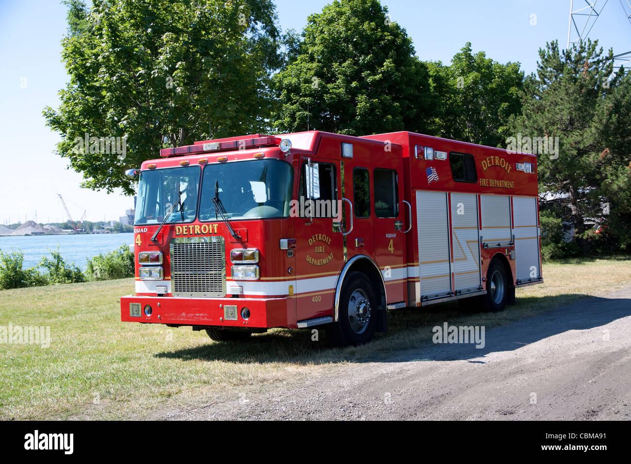 Tactical Man Power Rescue Squad 4 Detroit Fire Department Detroit Michigan - Stock Image