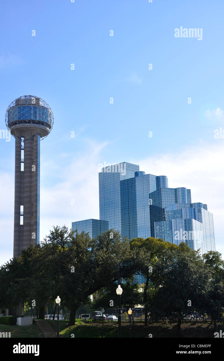 Reunion Tower and Hyatt Regency Hotel, Dallas, Texas, USA