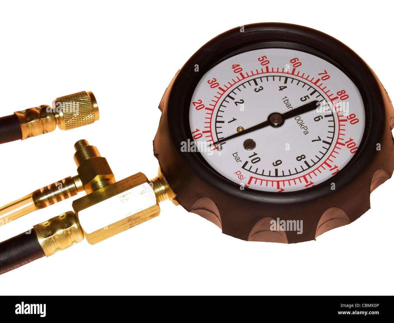 fuel pressure tester - Stock Image