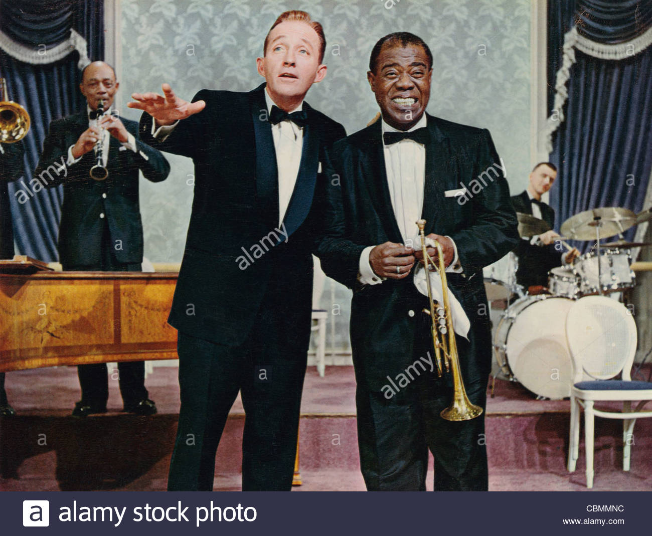 Bing Crosby and Louis Armstrong in 'High Society' 1956. Photo Courtesy CIF - Stock Image