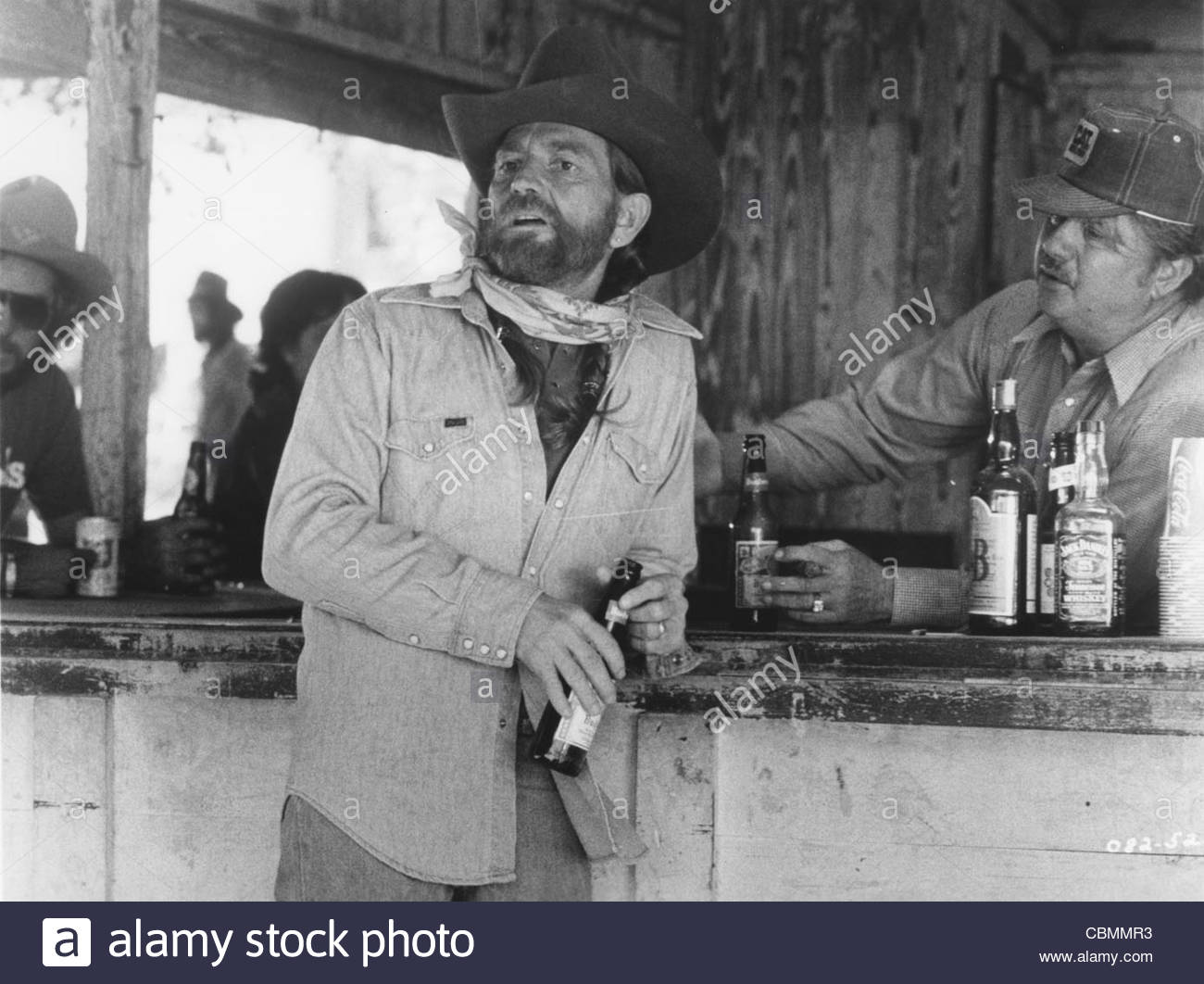 Willie Nelson in the Warner Brothers film 'Honeysuckle Rose', directed by Jerry Schatzberg, 1980. Photo - Stock Image