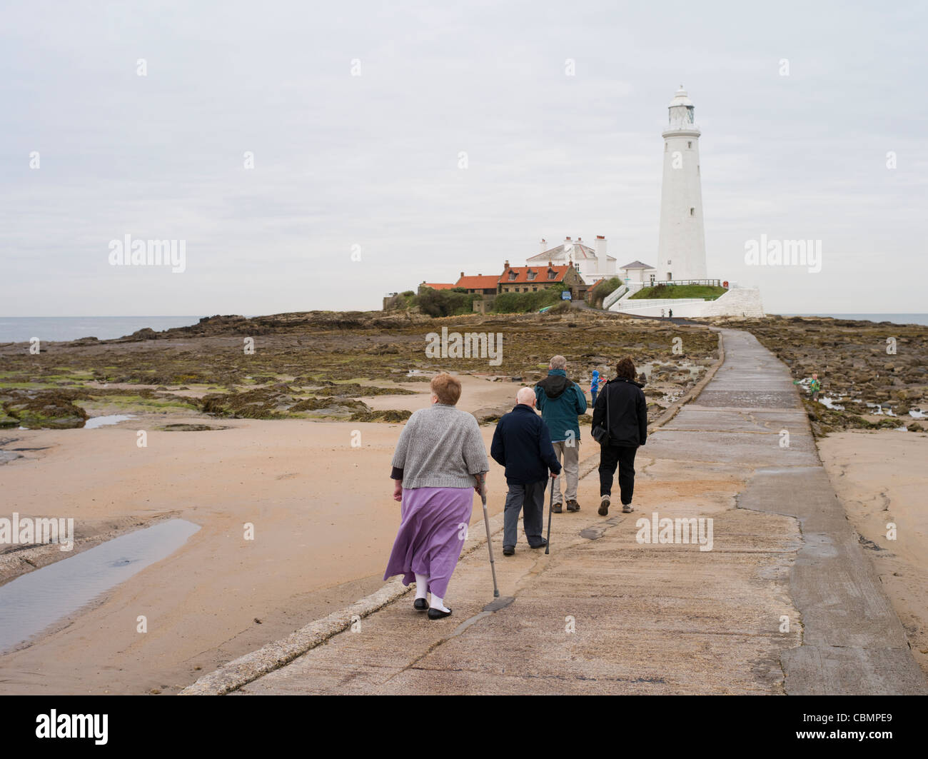 St. Mary's Lighthouse Tyne and Wear - Stock Image