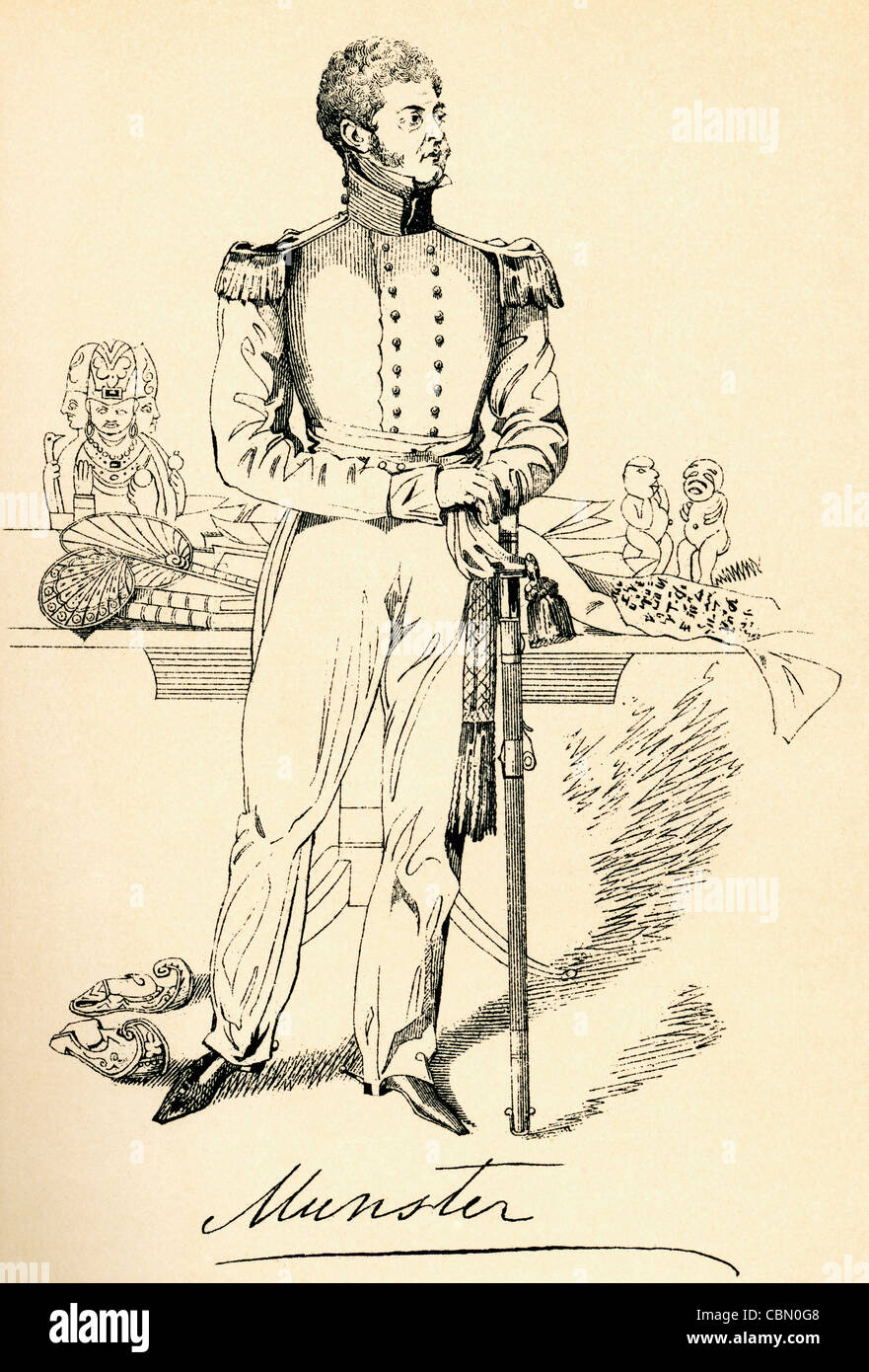 George Augustus Frederick FitzClarence, 1st Earl of Munster, 1794 – 1842. Eldest natural son of William IV of the - Stock Image