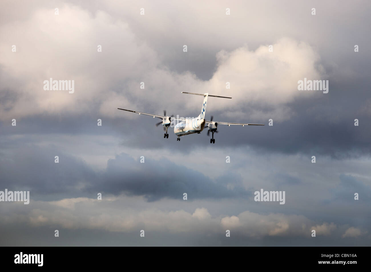 Flybe Dash 8 aircraft Stock Photo