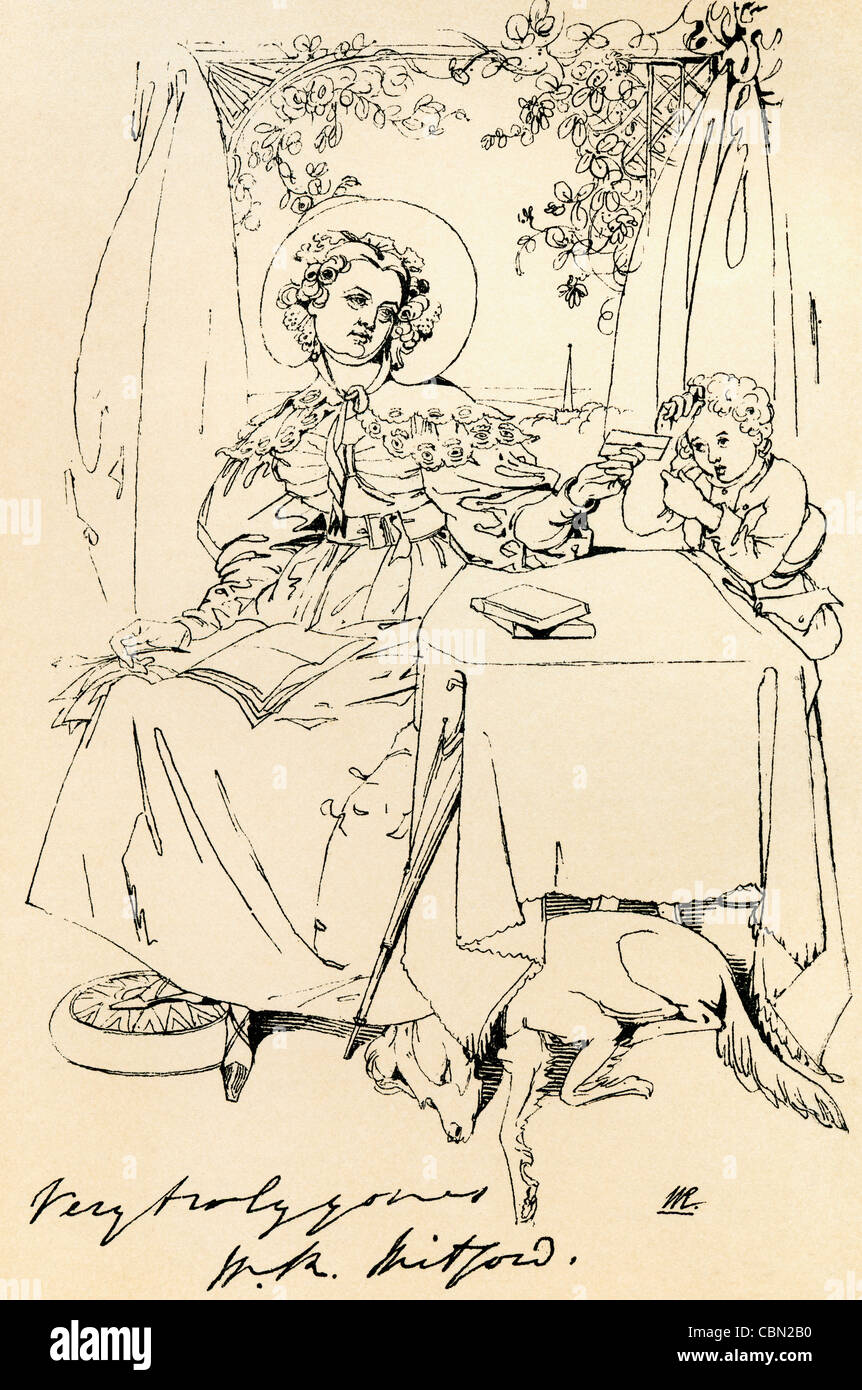 Mary Russell Mitford, 1787 – 1855. English author and dramatist. - Stock Image
