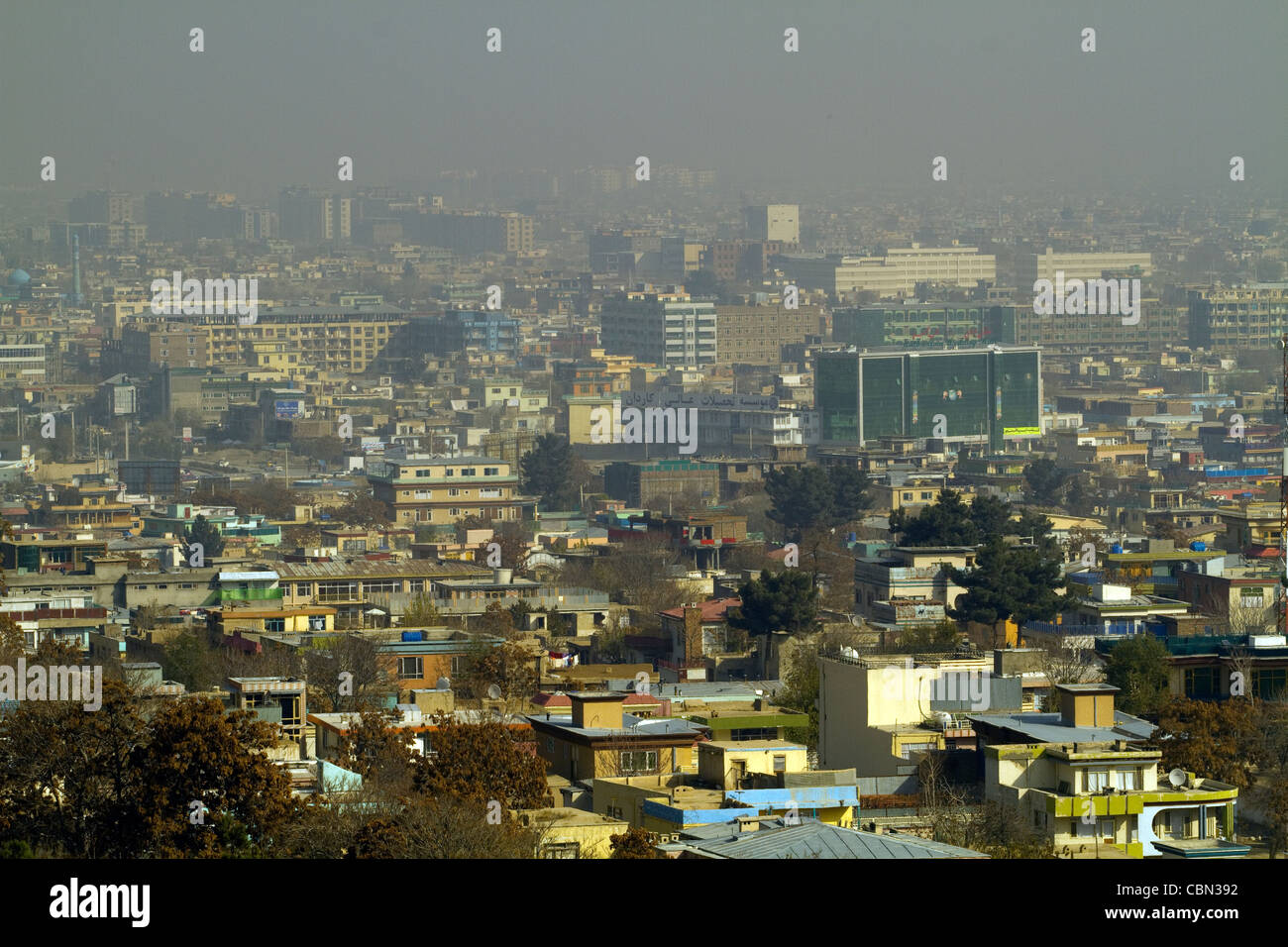 Aerial view of Kabul Afghanistan - Stock Image
